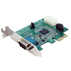 StarTech.com - Tarjeta Adaptador PCI Express PCIe 1 Puerto Serie Perfil Bajo Low Profile Serial RS232 DB9 UART 1695