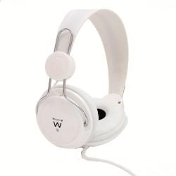 Ewent - EW3578 Binaurale Diadema Blanco auricular con micrófono