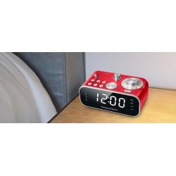 Muse - M-18 CRD despertador Digital alarm clock Rojo