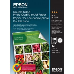 Epson - Double-Sided Photo Quality Inkjet Paper - A4 - 50 Sheets