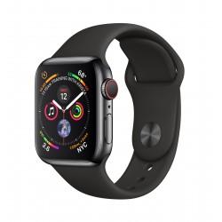 Apple - Watch Series 4 reloj inteligente Negro OLED Móvil GPS (satélite) - MTVL2TY/A