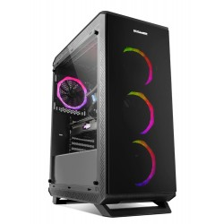 NOX - NXHUMMERTGF carcasa de ordenador Midi-Tower Negro