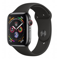 Apple - Watch Series 4 reloj inteligente Negro OLED Móvil GPS (satélite) - MTX22TY/A