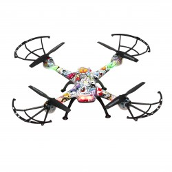 Denver Electronics - DCH-460 dron con cámara Cuadricóptero Multicolor 4 rotores 0,3 MP 650 mAh