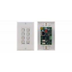 Kramer Electronics - RC-78R mando a distancia Alámbrico Gris, Blanco Botones