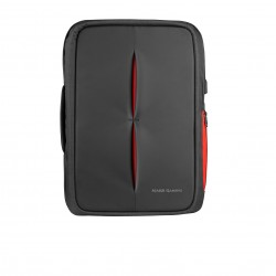 Mars Gaming - MB2 mochila Aluminio, Nylon Black, Rojo