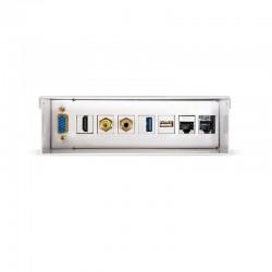 Nanocable - Caja de conexiones multimedia de pared VGA+HDMI+JACK3.5+RCA+2xUSB+2xRJ45, Blanco
