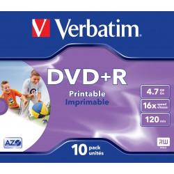 Verbatim - DVD+R Wide Inkjet Printable ID Brand 4.7GB DVD+R 10pieza(s)