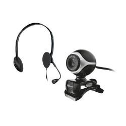 Trust - Exis Chatpack 640 x 480Pixeles Negro, Plata cámara web
