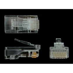 StarTech.com - Paquete de 50 Unidades de Conectores RJ45 Cat5e Modulares Multifilares Stranded Trenzados