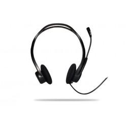 Logitech - 960 USB Binaural Diadema Negro auricular con micrófono