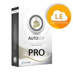 Solinsur - SOFTWARE AUTOSOF PRO LICENCIA ELECTRONICA GESTION TALLERES