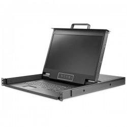 StarTech.com - Consola para Armario Rack con KVM VGA y Pantalla de 17,3 Pulgadas 1080p HD - 1U
