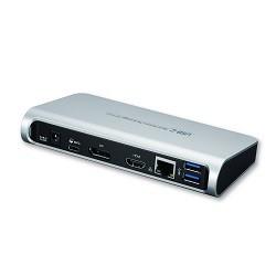 Dynabook - DUD16A0E base para portátil y replicador de puertos Alámbrico USB 3.2 Gen 1 (3.1 Gen 1) Type-C Negro, Plata
