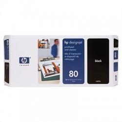 HP - Limpiador de cabezales de impresión y cabezal de impresión DesignJet 80 negro cabeza de impresora
