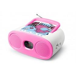 Muse - M-20 KDG sistema estéreo portátil Analógica Rosa, Blanco