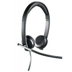 Logitech - H650E Auriculares Diadema Negro, Plata