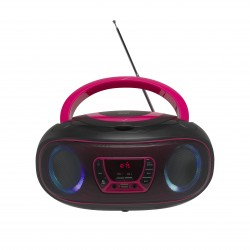 Denver Electronics - TCL-212BT PINK Portable CD player Negro, Rosa