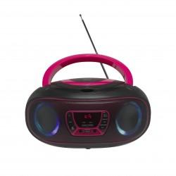 Denver Electronics - TCL-212BT PINK Reproductor de CD portátil Negro, Rosa