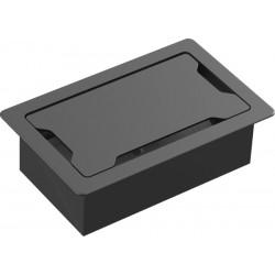 Vision - TC3 SURRTB organizador de cables Cable box Escritorio Negro, Blanco 1 pieza(s)