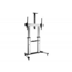 "Equip - 650605 soporte de pie para pantalla plana 2,54 m (100"") Portable flat panel floor stand Aluminio"