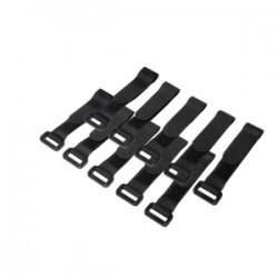 LogiLink - KAB0056 presilla Nylon Negro 10 pieza(s)