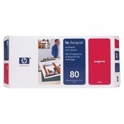 HP - Limpiador de cabezales de impresión y cabezal de impresión DesignJet 80 magenta