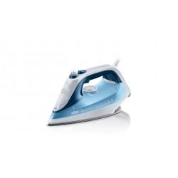Braun - TexStyle 7 Pro Plancha vapor-seco Suela de Eloxal Azul, Blanco 2600 W