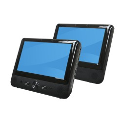 "Denver Electronics - MTW-984TWIN Portable DVD player Mesa Negro 22,9 cm (9"")"