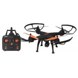 Denver Electronics - DCH-640 dron con cámara Cuadricóptero Negro, Naranja 4 rotores 2 MP 2000 mAh