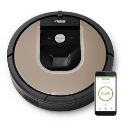 iRobot - Roomba 966 aspiradora robotizada Sin bolsa Negro, Plata 0,6 L