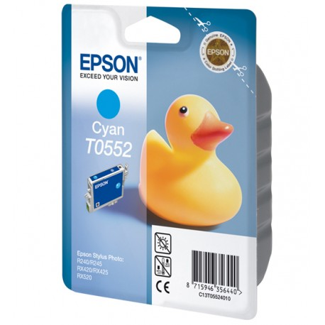 Epson - T0552 Cyan Ink Cartridge Duck