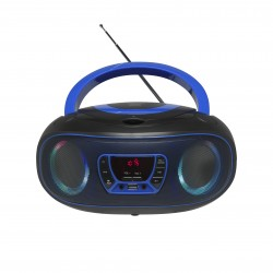 Denver Electronics - TCL-212BT BLUE reproductor de CD Portable CD player Negro, Azul