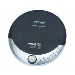 Denver Electronics - DMP-389 Reproductor de CD portátil Negro, Plata
