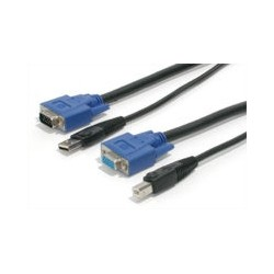 StarTech.com - Cable KVM de 1,8m Todo en Uno VGA USB A USB B HD15 - 6ft Pies 2 en 1
