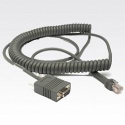 Zebra - RS232 Cable 3.6m Gris cable de señal