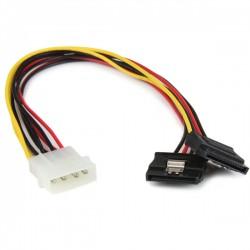 StarTech.com - Adaptador Cable 30cm Divisor de 4 Pines LP4 a Doble SATA Cierre Seguridad Pestillo Latches