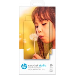 HP - Sprocket Studio Ink and Photo Paper-80 sht/10 x 15 cm (4 x 6 in)