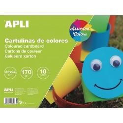 APLI - 14483 cartulina 170 g/m² 10 hojas