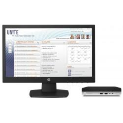 HP - ProDesk 400 G3 Mini + V197 7ª generación de procesadores Intel® Core™ i5 i5-7500T 4 GB DDR4-SDRAM 500 GB Unida