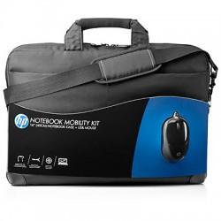 HP - Kit de movilidad con maletín y ratón USB de
