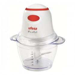 Ufesa - PD5325 pic & roll picadora eléctrica de alimentos 0,5 L Rojo, Transparente, Blanco 400 W
