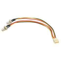 StarTech.com - Cable 15cm Splitter Divisor de Alimentación Corriente para Fan Ventilador de CPU - TX3