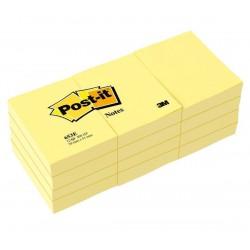3M - 653-E nota autoadhesiva Rectángulo Amarillo 100 hojas