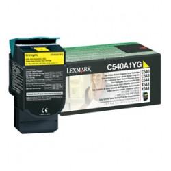 Lexmark - C540A1YG 1000páginas Amarillo cartucho de tóner