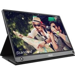 "ASUS - MB16AMT monitor pantalla táctil 39,6 cm (15.6"") 1920 x 1080 Pixeles Negro, Gris Multi-touch Multi-usuario"