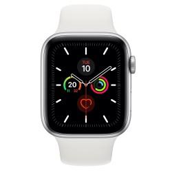 Apple - Watch Series 5 reloj inteligente Plata OLED Móvil GPS (satélite) - MWWC2TY/A