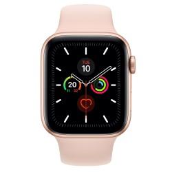 Apple - Watch Series 5 reloj inteligente Oro OLED Móvil GPS (satélite) - MWWD2TY/A