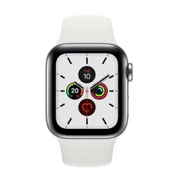 Apple - Watch Series 5 reloj inteligente Acero inoxidable OLED Móvil GPS (satélite) - MWX42TY/A