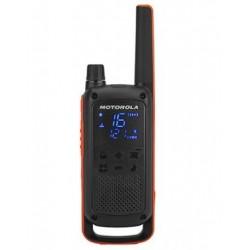 Motorola - T82 Twin Pack & Chgr two-way radios 16 canales Negro, Naranja